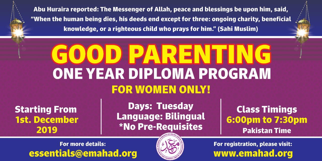 Good Parenting 1 Year Diploma (Only for Women)