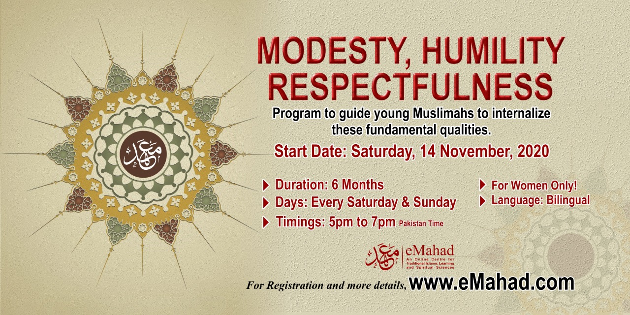 Modesty, Humility, Respectfulness ( For Women Only)