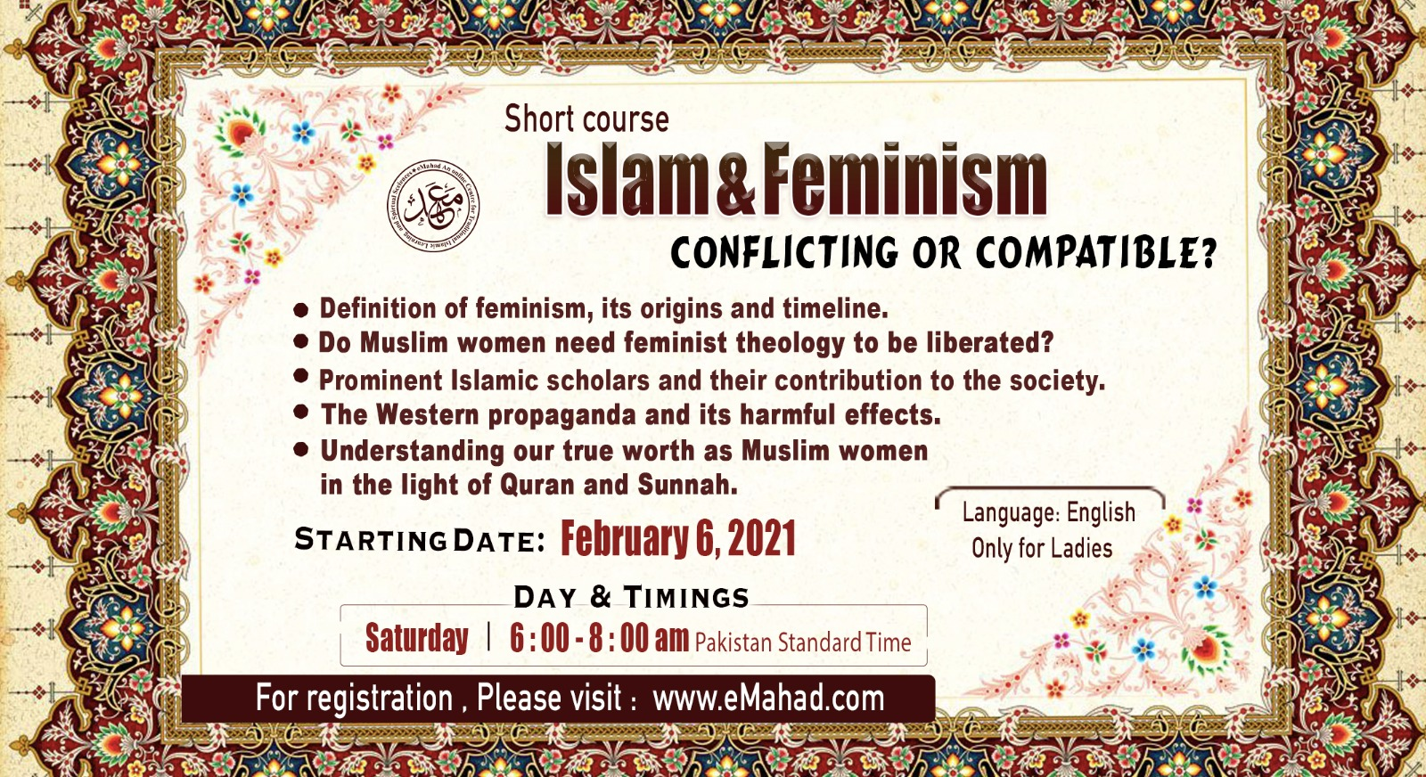 Islam & Feminism (Conflicting or Compatible)